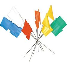 White Flag Markers / Survey Flags, Bundle of 100