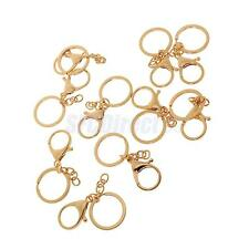 10 Lobster Clasps Swivel Trigger Clip Snap Hook Bag Key Ring Charms Findings