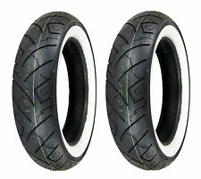 Shinko 100/90-19 & 150/90-15 777HD White Wall Tires Kawasaki Vulcan 750A/1500A,B