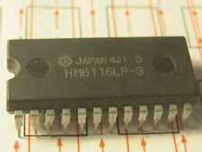 hM6116LP-3  IC 2K x 8 High Speed CMOS Static RAM Hitachi  1pcs