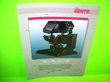 Bally Sente S.A.C.II Simulator Original NOS 1984 Video Arcade Game Promo Flyer