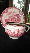 "Johnson Brothers ""Old Britain Castles"" (2) cups & saucers ( Pink)"