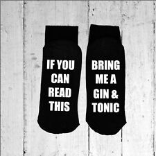 If you can read this/Bring me a Gin & Tonic - Printed on the Sole size 3-8