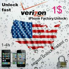 factory unlock iphone verizon 3G/3GS/4/4S/5/5S/5C INSTANT
