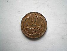 Early ww1 -2 Heller Coin DALL'AUSTRIA DATATO 1914 di alta qualità
