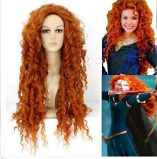 Free Hair Cap + New Style Pixar Animated Brave Merida Wig Costume Wigs For Party