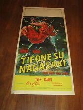 LOCANDINA,Tifone su Nagasaki,Typhon sur,1956,Darrieux, Hishi Keiko,Ciampi,Marais