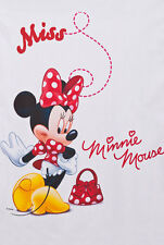 Disney  Voile Net Curtain -MINNIE MOUSE IN RED - 75cm width x 150cm drop