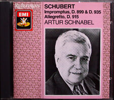 Artur SCHNABEL: SCHUBERT 8 Impromptus D.899 & 935 Allegretto EMI CD Op.90 & 142