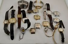 Vintage Watch Lot of 20 for Parts or Repair Bulova Timex Clabar Etc.