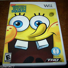 Wii Game - SPONGEBOB'S TRUTH OR SQUARE - Rated E - EUC!