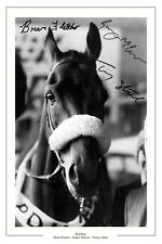 TOMMY STACK BRIAN FLETCHER GINGER MCCAIN RED RUM GRAND NATIONAL SIGNED PRINT