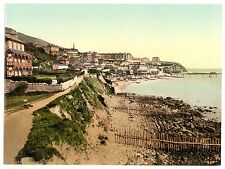 2 Victorian Views Pictures Ventnor East West Cliff Isle of Wight Old Photos Set