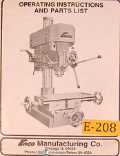 "Enco 1 1/4"" Complex Drilling and Milling Machine, Operations and Parts Manual"
