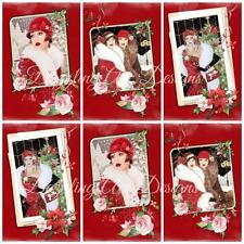 12 ART DECO CHRISTMAS..Ideal for Toppers, Embellishments, Card Making, Crafting