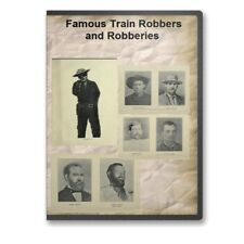 Famous Train Robbers and Robberies  Jesse James - 4 Historic Books on CD D481