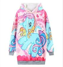 Woman autumn Hoodies My little Pony print long sleeve pullover hoodies with Cap
