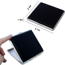 Classic Leather & Alloy Cigarette Case Box Metal Holder Container for Lighter