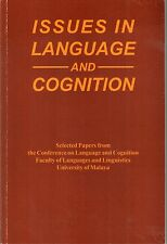 Issues in Language and Cognition - Elaine Morais (ed)