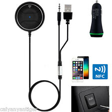 Wireless NFC Bluetooth FM Transmitter 3.5mm Aux Handsfree MP3Player Car Receiver
