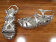 NEW ECCO Touch 45 Ankle Strap Wedge Sandals WOMENS sz. 40 9-9.5