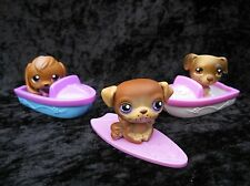 Littlest Pet Shop #16 Beagle #133 Pug #109 Jack Russell Dogs + Accessories