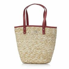 Laura Geller straw tote bag
