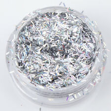 Glitter Pots Choose Colour Chunky Diamonds Strip Tinsel Nail Art Holographic