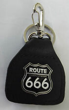 Route 666 Badged Bikers Leather Key ring The Devils Highway.    D030701F