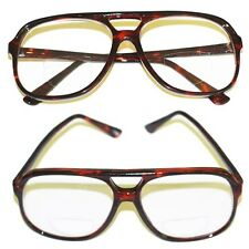 Reading Glasses Bifocal 70-80's IT Style LARGE MAN Tortoise Frame +3.00 Lens