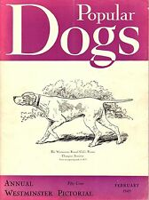 Vintage Popular Dogs Magazine February 1949 Annual Westminster Issue