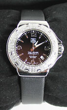 WAC1214.FC6218 Tag Heuer Formula 1 Glamour Diamonds Ladies Black Satin Watch