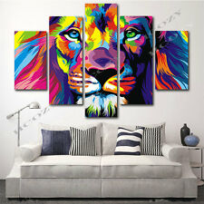 Huge Modern Abstract Art Print Oil Painting Wall Decor Canvas (No Frame) Lion