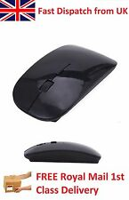 Slim Black Stylish Wireless Optical USB 2.4GHz Scroll Mouse for Mac PC Laptop
