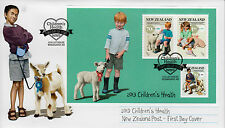 New Zealand 2013 FDC Children's Health Country Pets 3v M/S Cover Farm Animals