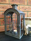 Grey Metal Lantern Vintage Style Candle Tea Light Holder Wedding Garden Party