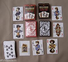 Western playing cards cowboy set of 2 standard deck NEW cowgirl outlaw lawmen
