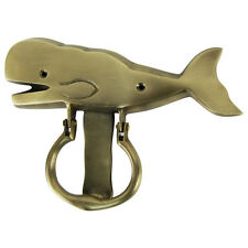 Solid Brass Sperm Whale Door Knocker Beach House/Sea Life/Home Decor Doorknocker