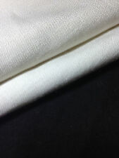 "60"" Ivory Wool & Rayon Blend Gabardine Woven Fabric By the Yard"