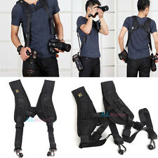 Quick Release Camera Strap Double Dual Shoulder Sling Belt f DSLR Digital Camera