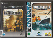 SILENT HUNTER 4 WOLVES OF THE PACIFIC U-Boot + Delta Force BLACK HAWK Down PC