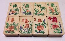 One set of 8 Tiles -Bone/Bamboo - MahJong - 1920s  - 8 Tile Set4