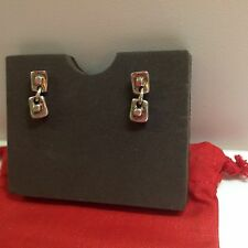 "New Uno de 50 Silvertone Screwback Pierced Earrings .50"". ""Encuadra"""