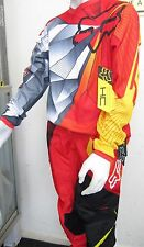 FOX COMBO MOTOCROSS PANTS & JERSEY #28 NEW suit youth/ teen Red/yellow Dirt bike