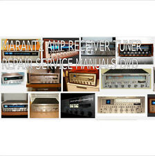 MARANTZ SERVICE MANUALS RECEIVER TUNER VINTAGE REPAIR SERVICE MANUALS DVD