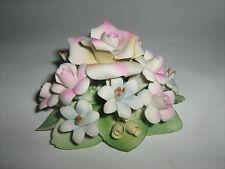 Bouquet Capodimonte Originale Con Rose,  Fiori e Foglie per Festa Della Mamma