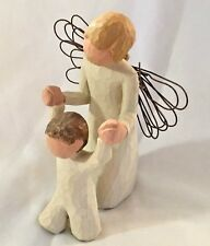 "Willow Tree 5"" Guardian Angel w Wire Wings with a Child Figurine"