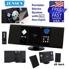 Jensen Wall Mountable Cd Mp3 Player Home Stereo System AM/FM Radio & Remote NEW