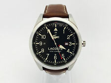 108N NEW LACOSTE MENS WATCH MONTREAL GREEN FACE AND BROWN STRAP 2010781