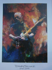 David Gilmour Poster Lithograph 2015-rattle that lock live no cd lp dvd